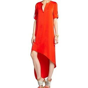 Bcbgmaxazria long sleeve silk dress